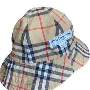 Vintage Burberrys Bucket Reversible Hat Sz M